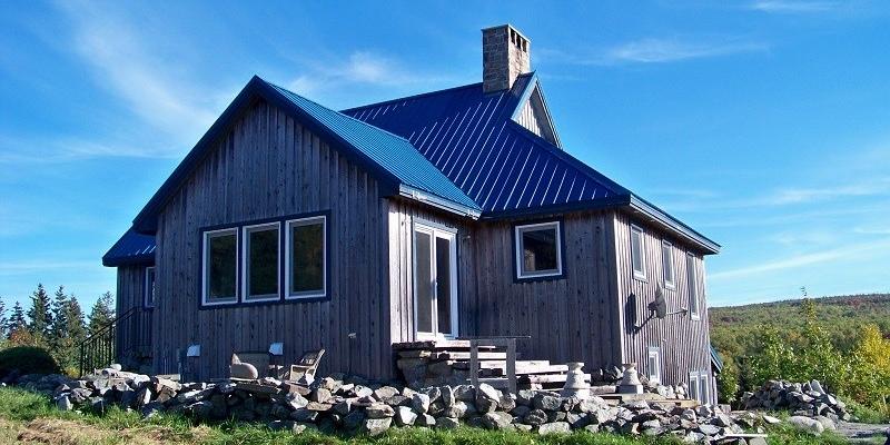 blue tin roof