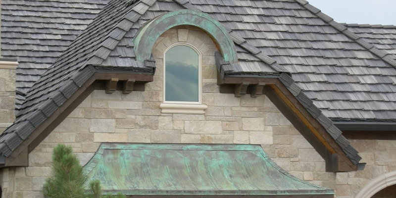 copper roof turning patina