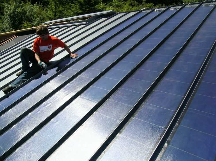 Metal Roofing Systems Installation : Green roof systems pv solar options new england metal