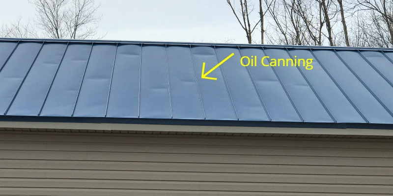 metal roof oil canning