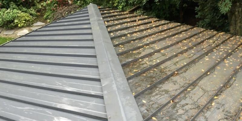 clean metal roof before painting