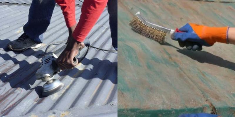 remove metal roof rusts