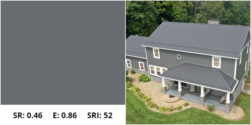 ash gray metal roof