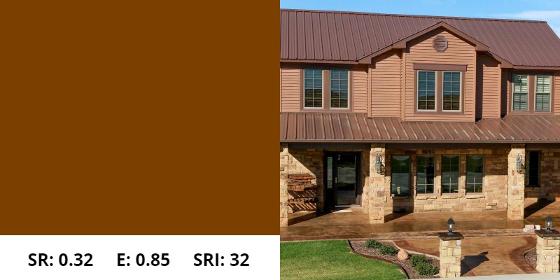 Cocoa Brown Metal Roof