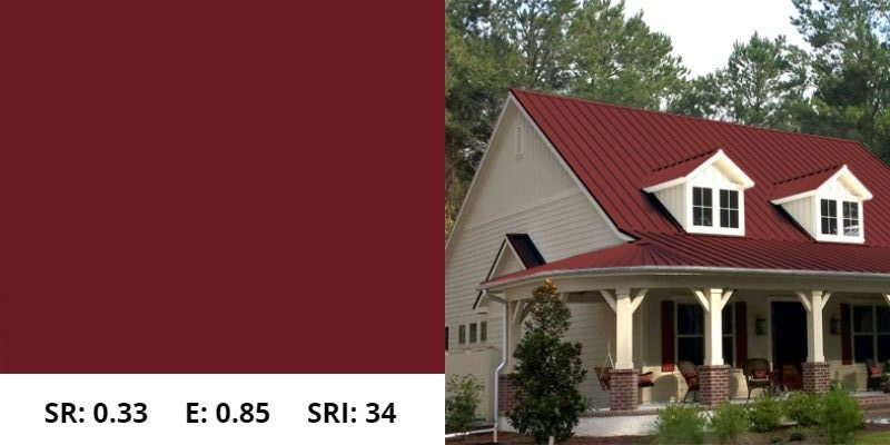 Colonial Red Metal Roof
