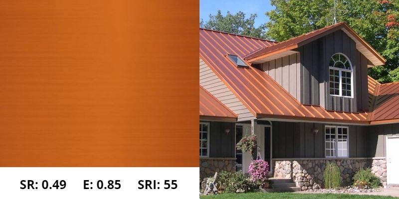 Copper Metal Roof