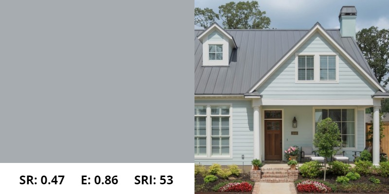 Dove Gray Metal Roof