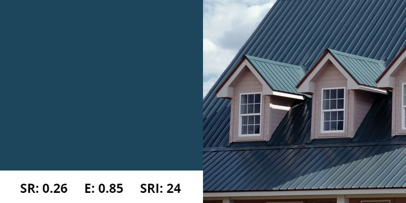 Tahoe Blue Metal Roof
