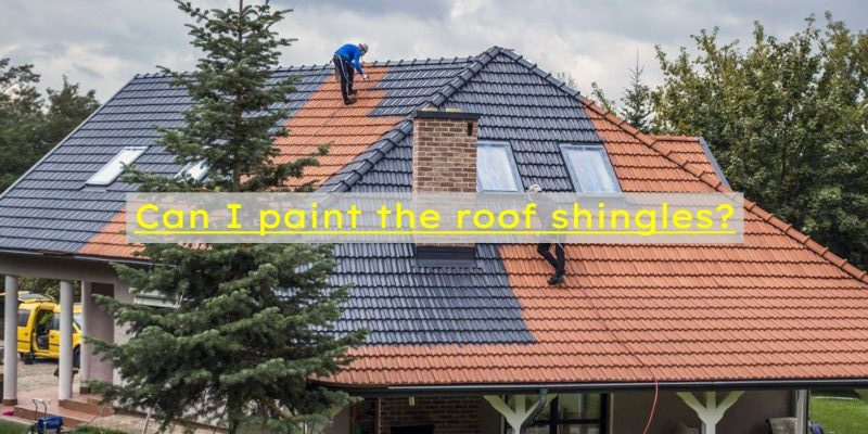 paint roof shingles