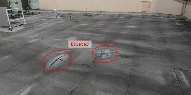 BUR roof blister