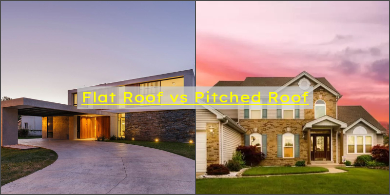 flat roof vs pitched roof