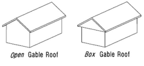 open gable roof vs box gable roof