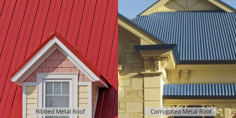 ribbed vs corrugated metal roof